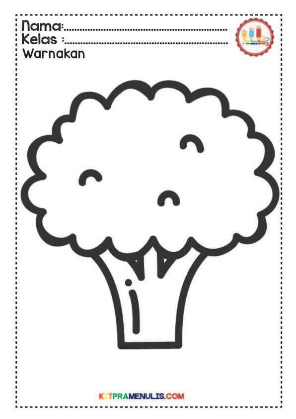 gambar mewarna dadu penting mewarna gambar sayur buah 10 kitpramenulis