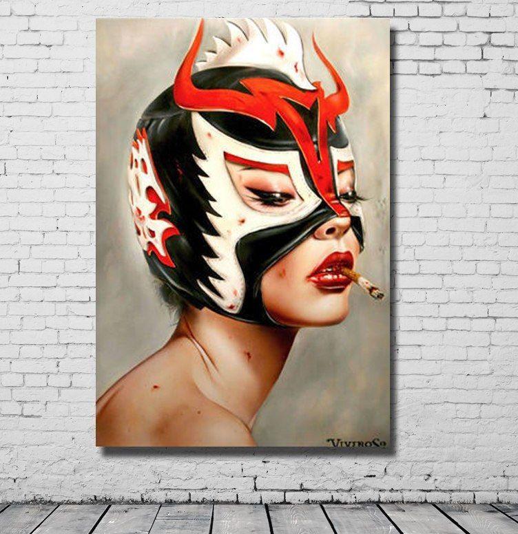 Gambar Poster Pemanasan Global Terhebat A Grosir Untuk Penjualan Dilukis Tangan Memakai Masker Minyak Gadis