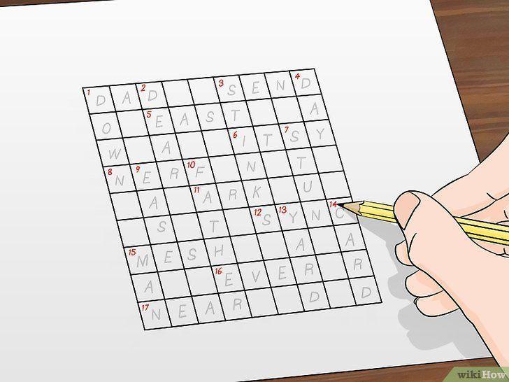 gambar berjudul make crossword puzzles step 4 gambar cara membuat teka teki silang