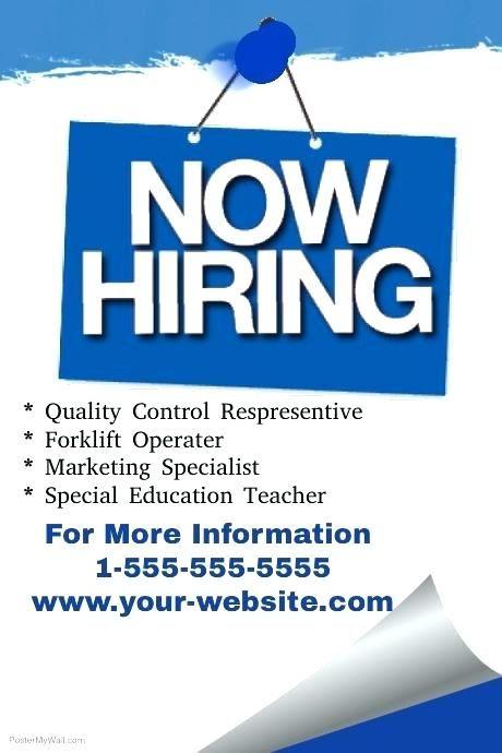 Job Vacancy Poster Terhebat Job Advertisement Template Job Recruitment Flyer Vacancy