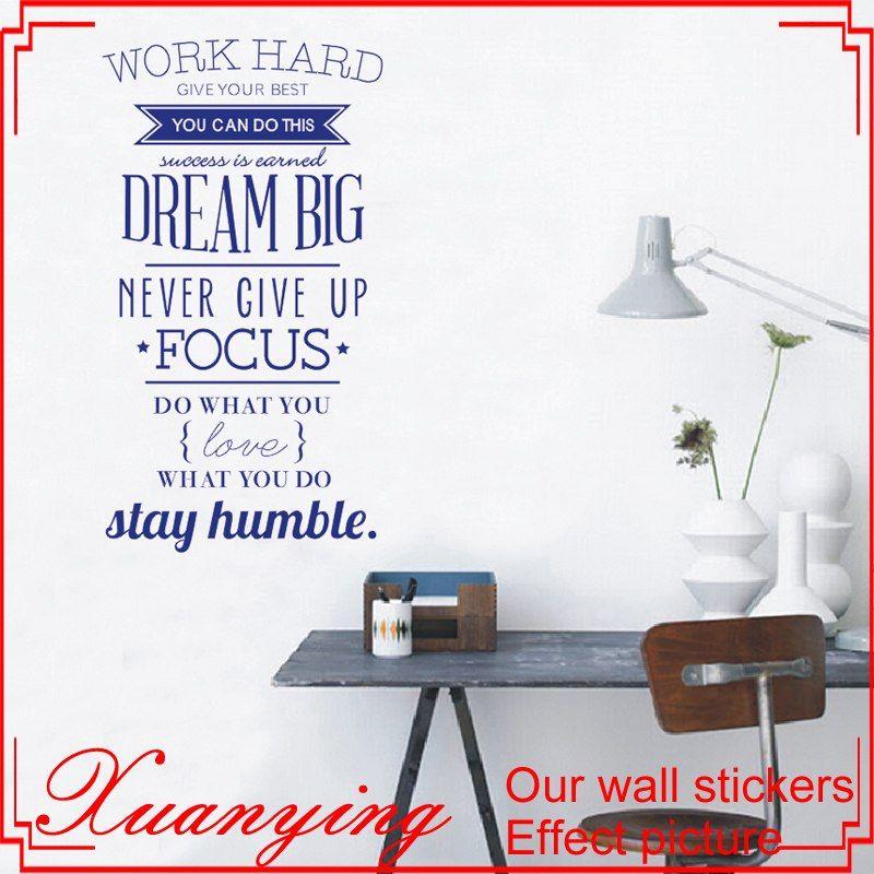 Jual Poster Penting Bekerja Keras Inspirasi Wall Sticker Harga Poster Wall Art Decals