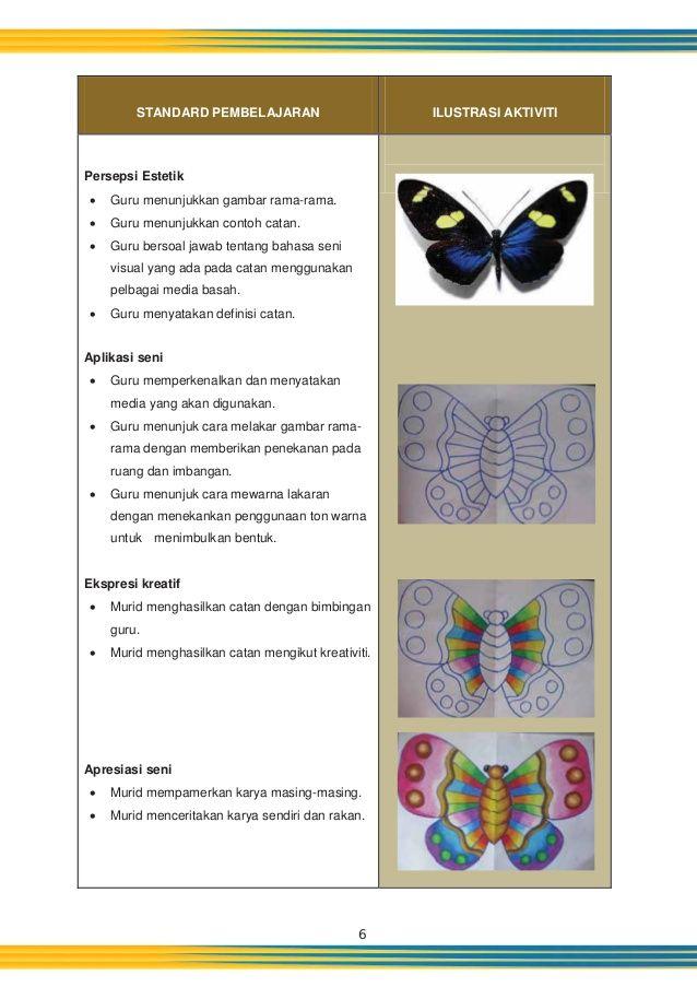 Kertas Mewarna Rama Rama Berguna Panduan Pengajaran Dunia Seni Visual Tahun 3 Kssr