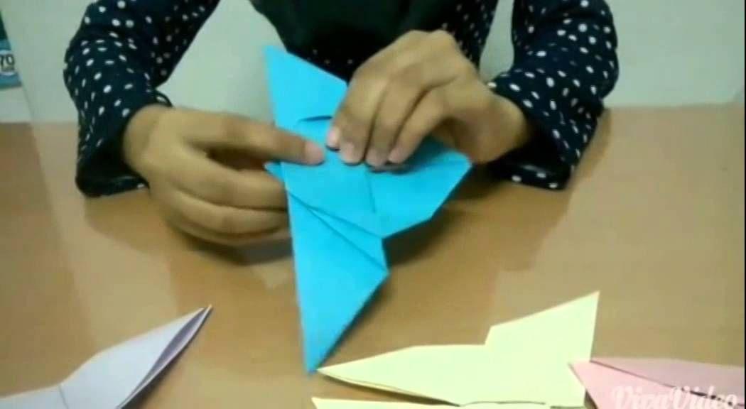 cara membuat origami rama rama