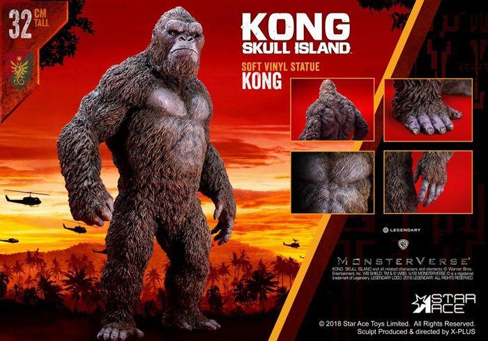 Kong Skull island Poster Terhebat Kong Skull island Kong soft Vinyl Statue Star Ace Kong Skull