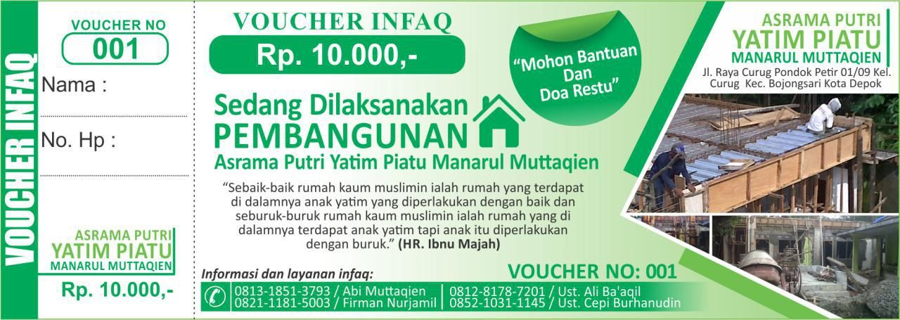 contoh design voucher infaq buatan sendiri
