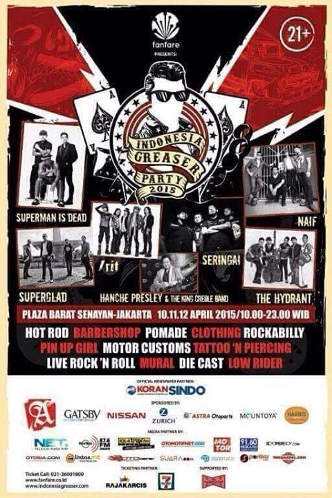 Poster Budaya Indonesia Bernilai Jadwal Konser Musik Indonesia Greaser Party 2015 Di Plaza Barat