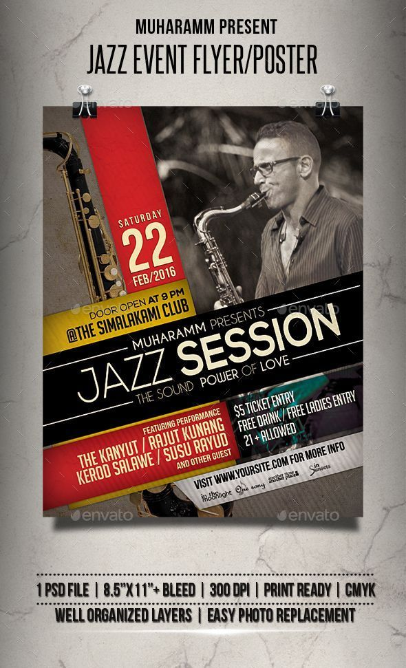 Poster event Hebat Jazz event Flyer Poster Template Psd Other Pinterest Finds