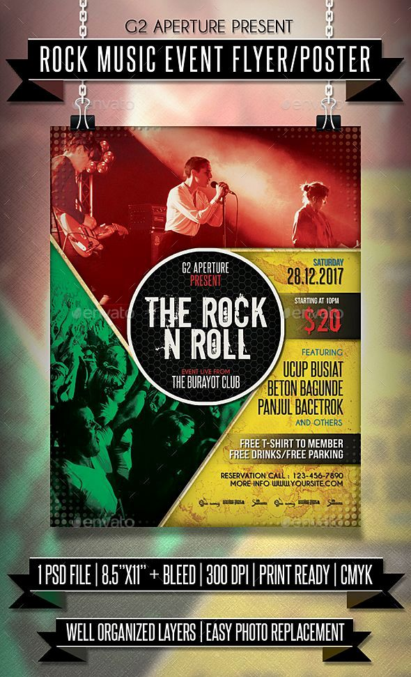 Poster event Meletup Free Printable event Flyer Templates Elegant Rock Music Flyer Poster