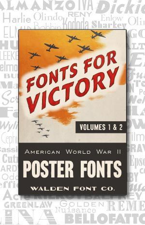 Poster Font Baik Cover Art for the Complete American Poster Fonts Of World War Ii