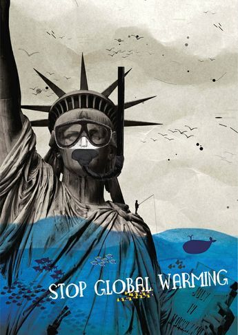 stop global warming poster by anna tyrkich