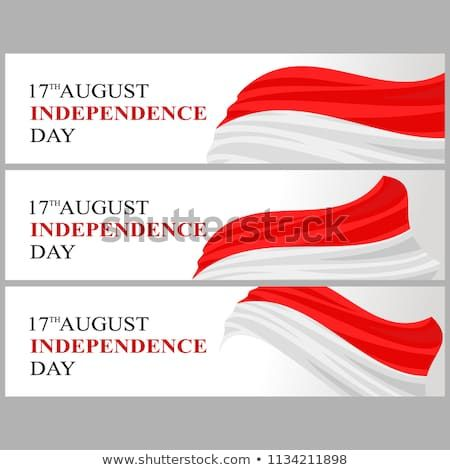Poster Hari Kebangsaan Penting Hari Kemerdekaan Indonesia Indonesian Independence Day Stock Vector