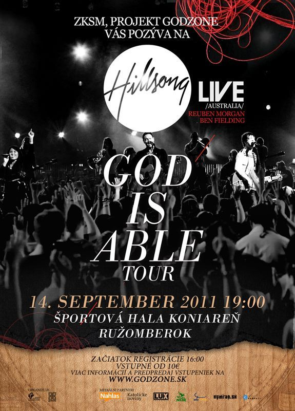 hillsong live at czech 2011 poster