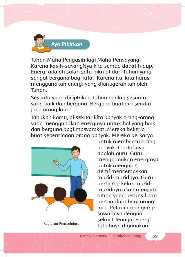 Poster Hemat Energi Di Sekolah Terhebat Energi Dan Perubahannya Buku Siswa Kelas 3 Tema 7