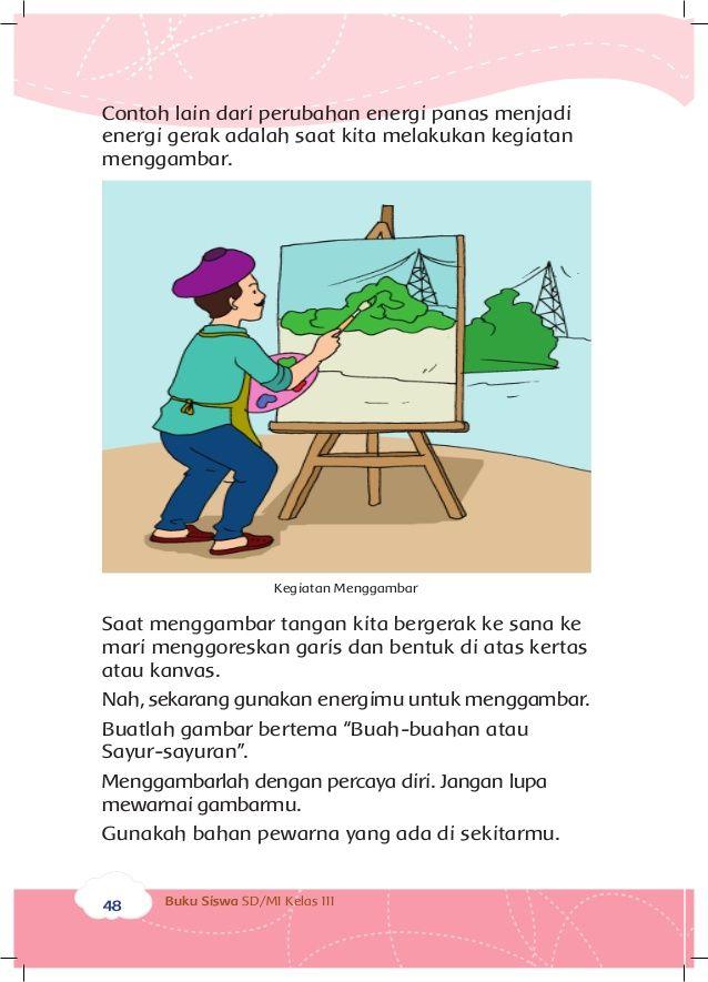 Poster Hemat Listrik Anak-anak Penting Energi Dan Perubahannya Buku Siswa Kelas 3 Tema 7