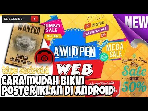 Poster Iklan Makanan Hebat Tips android Cara Mudah Bikin Poster Iklan Di android Youtube