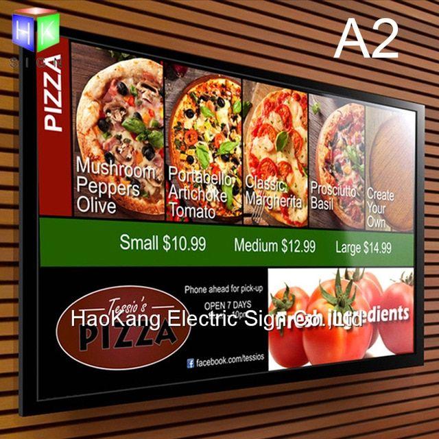 Poster Iklan Makanan Power A2 Menu Restoran Papan Papan Untuk Makanan Cepat Saji Menu Led