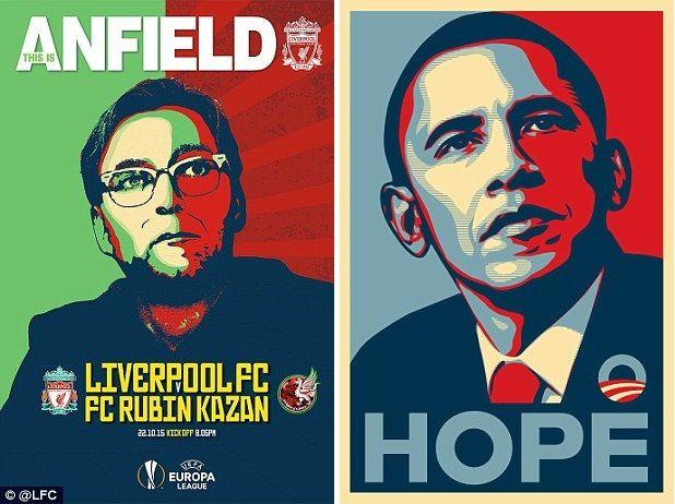 jamu rubin kazan liverpool luncurkan match programme bergaya poster kampanye barrack obama