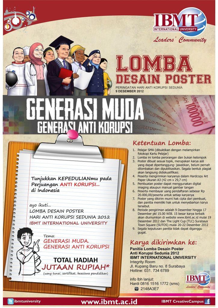 lomba desain poster hari anti korupsi sedunia 9 desember 2012