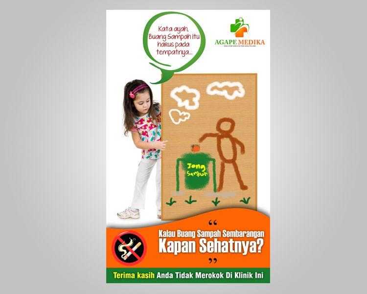buat desain poster lingkungan bersih untuk klinik