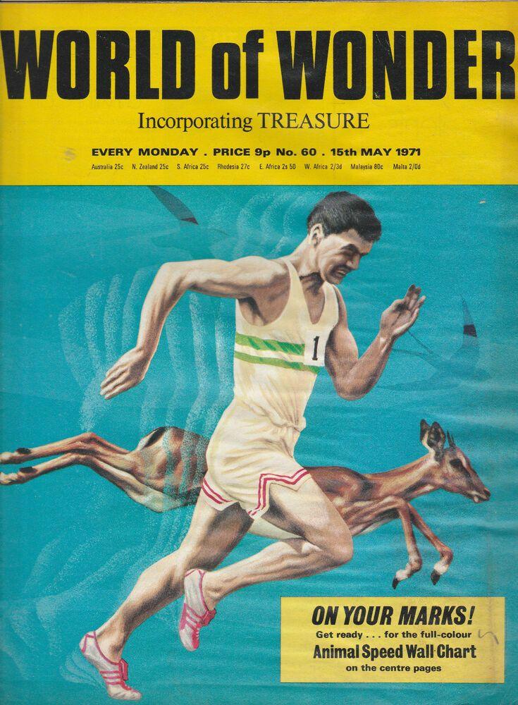 Poster Malaysia Baik World Of Wonder Magazine issue 60 Animal Speed 1971 Ebay