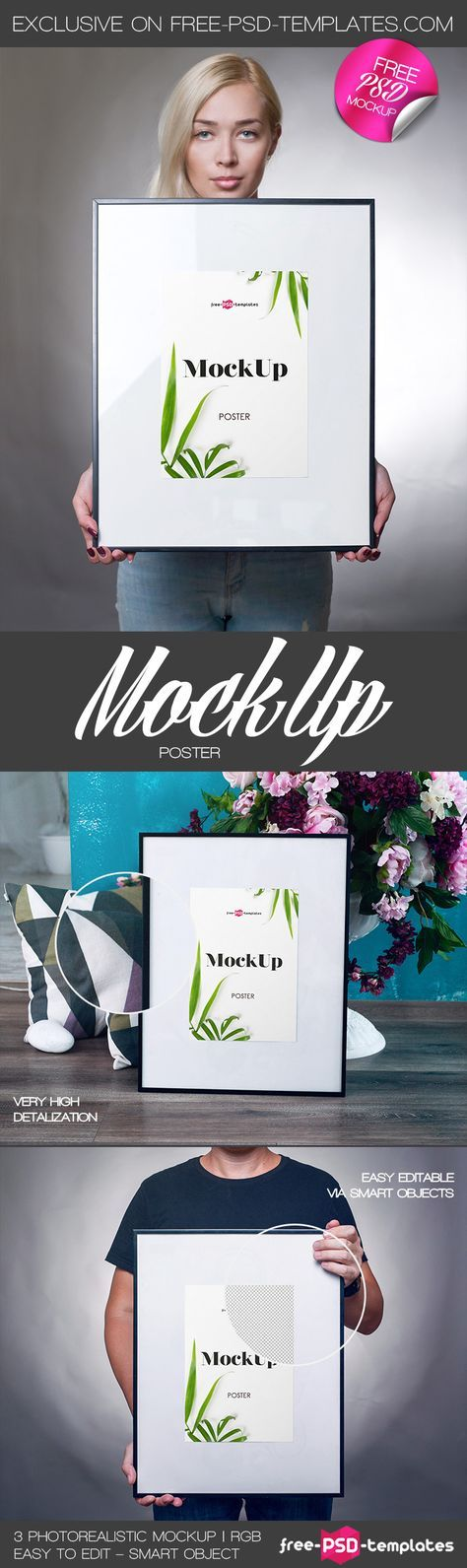 Poster Mockup Penting Free 3 Poster Mockup Psd Template Pictures Free 3 Poster Mockup