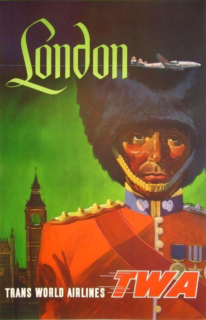 london twa travel advertising poster