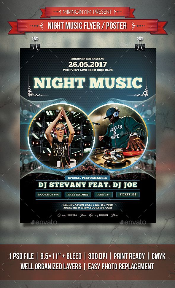 Poster Photoshop Meletup Night Music Flyer Poster Template Psd Flyer Templates
