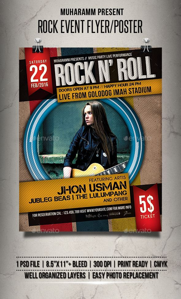 rock event flyer poster photoshop psd folk party available here a
