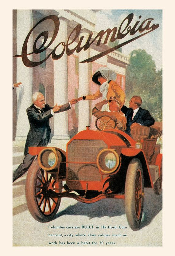 antique car poster columbia car poster vintage car poster high quality reproduction antique ca