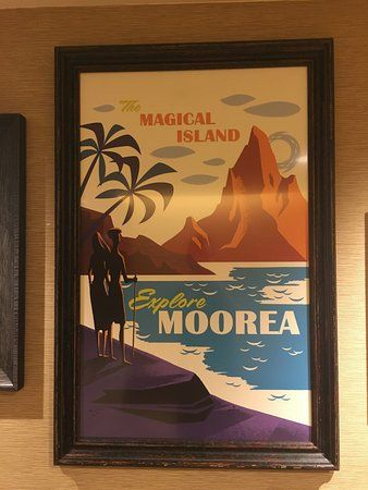 Poster Retro Terhebat Retro Posters In Moorea Longhouse Picture Of Disney S Polynesian