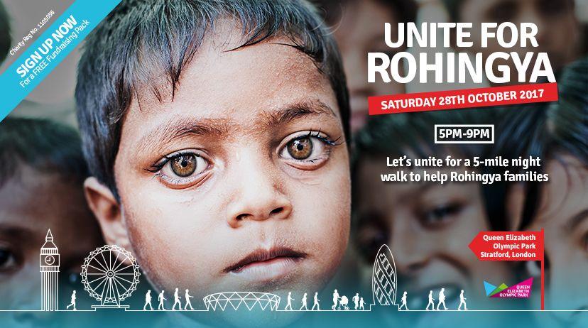 Poster Rohingya Hebat Unite for Rohingya Muslim Hands Uk