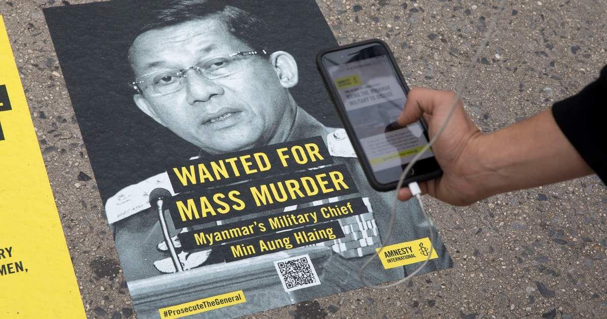 Poster Rohingya Terhebat Un Wanted for Mass Murder Posters Target Myanmar S top General