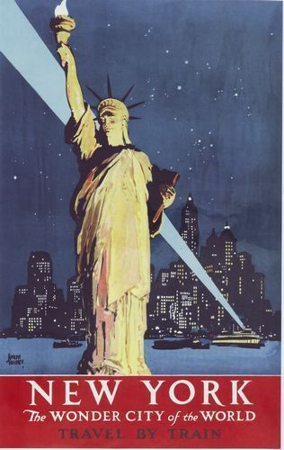 poster new york beau vintage travel poster new york pinterest