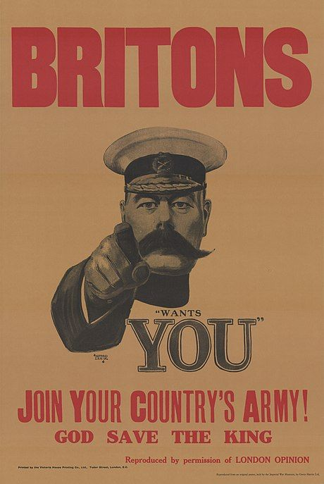 one of the most famous recruiting posters of the british army from world war i