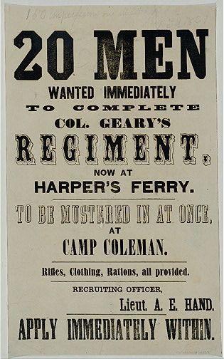 Recruitment Poster Bernilai Union Army Recruitment Poster Library Of Congress American Civil