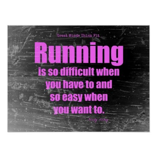 Running Poster Penting Pink Grunge Running Poster Poster Workout Motivation Pinterest