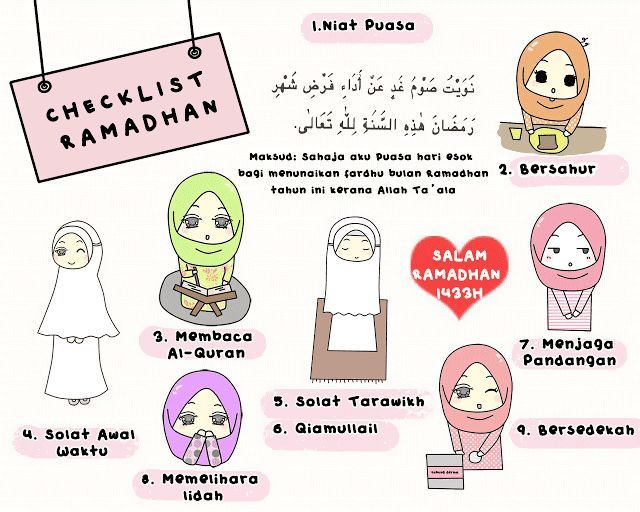 check out these ramadhan checklists that i found on the internet moga memberi manfaat kepada semua