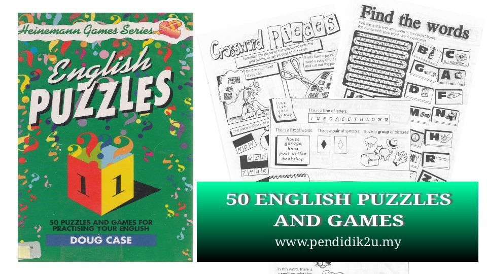english puzzle sekolah rendah gambar himpunan teka silang kata