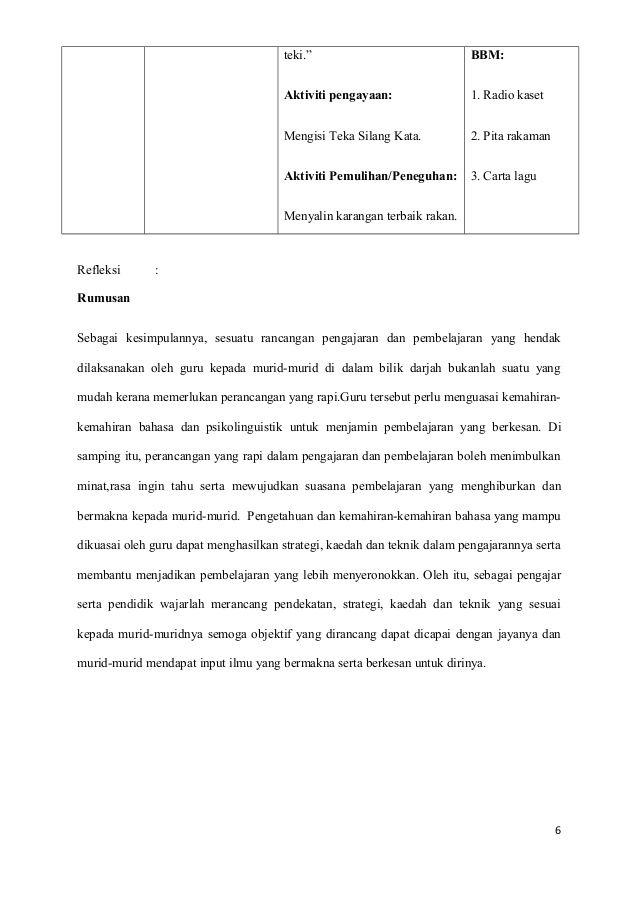 Teka Silang Kata Makanan Seimbang Menarik Rancangan Pelajaran Harian Bahasa Melayu Tahun 6 Hijau 2013