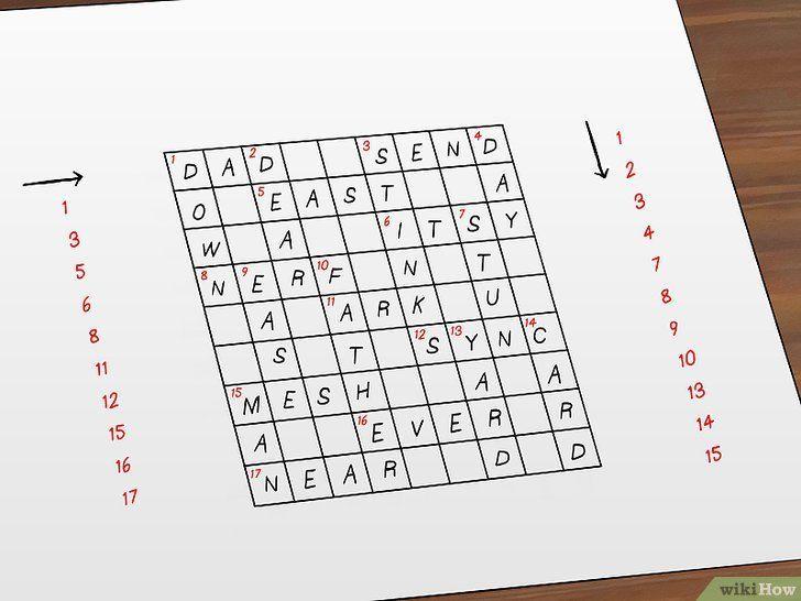 gambar berjudul make crossword puzzles step 9 cara membuat teka teki silang