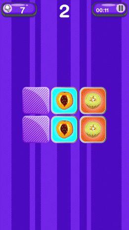 permainan memori buah buahan tangkapan skrin 4