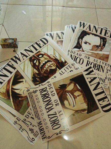 Ukuran Poster A3 Terbaik Jual Best Poster Bounty Wanted One Piece Ukuran A3 33cmx48cm Jc
