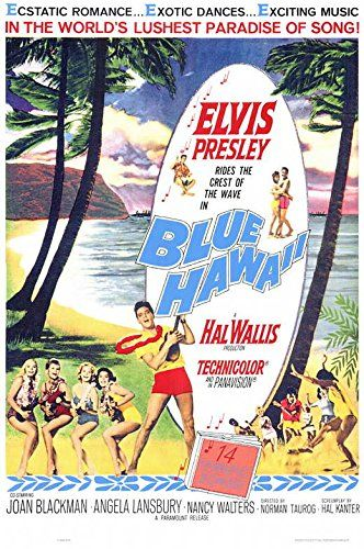 blue hawaii poster movie 11 x 17 inches 28cm x 44cm 1961