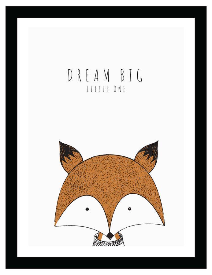 original fox dream big little one baby poster jpg