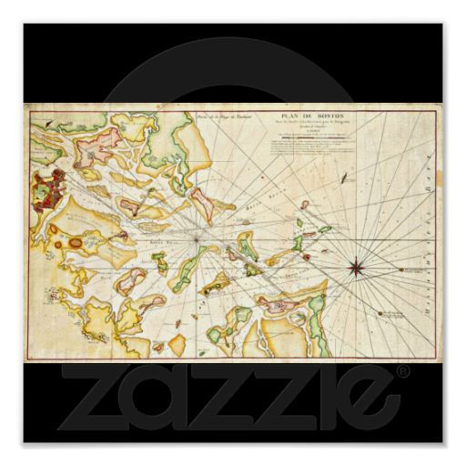 poster vintage boston maps 11