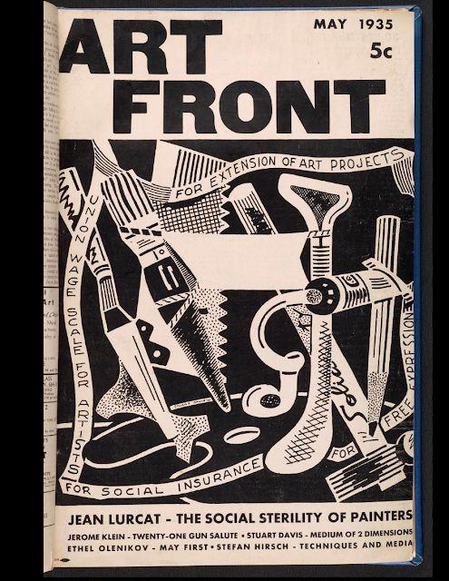 stuart davis cover illustration for art front magazine source