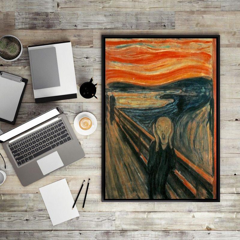 Apa Itu Poster Power Jeritan Edvard Munch Abstrak Lukisan Minyak Di atas Kanvas Cetak