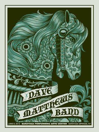 dmb saratoga n1 horse a dave matthews band posters a methane studios