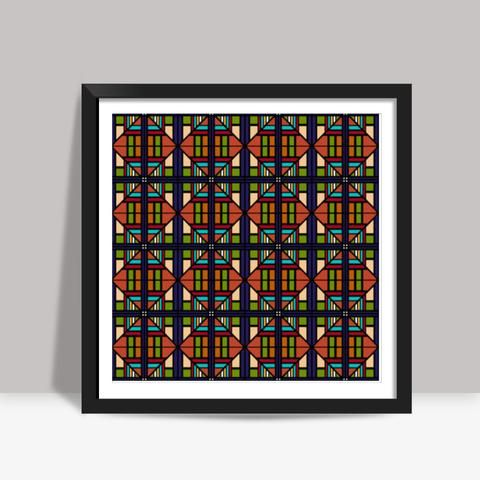 Background Poster Film Baik Colorful Geometric Seamless Squares Diamonds Repeating Background