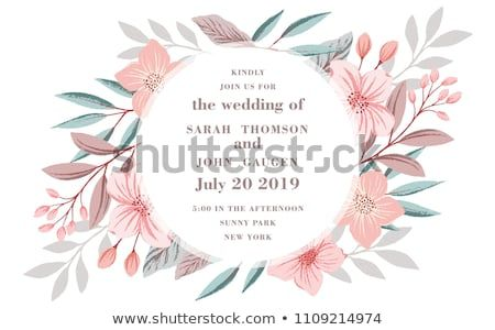 floral poster invite vector decorative greeting card or invitation design